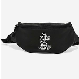 NEW Disney Mickey Mouse Patch Loungefly Fanny Pack